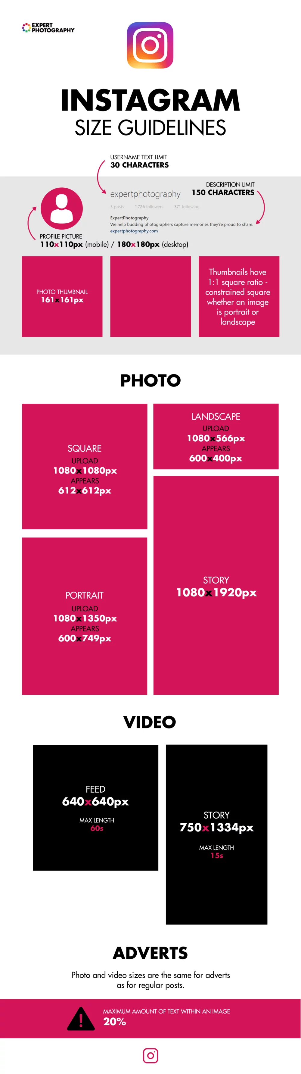 Instagram Profile Picture Size Guide 2021 (+ Free Template