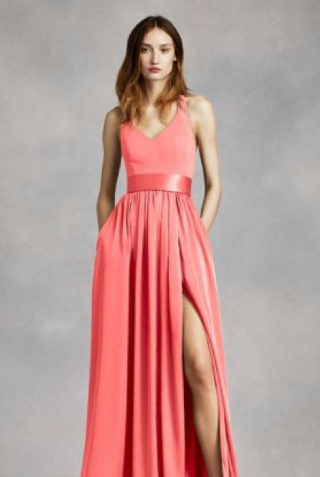 David\'s bridal Vera Wang coral reef | Wedding | Pinterest | Vestiditos