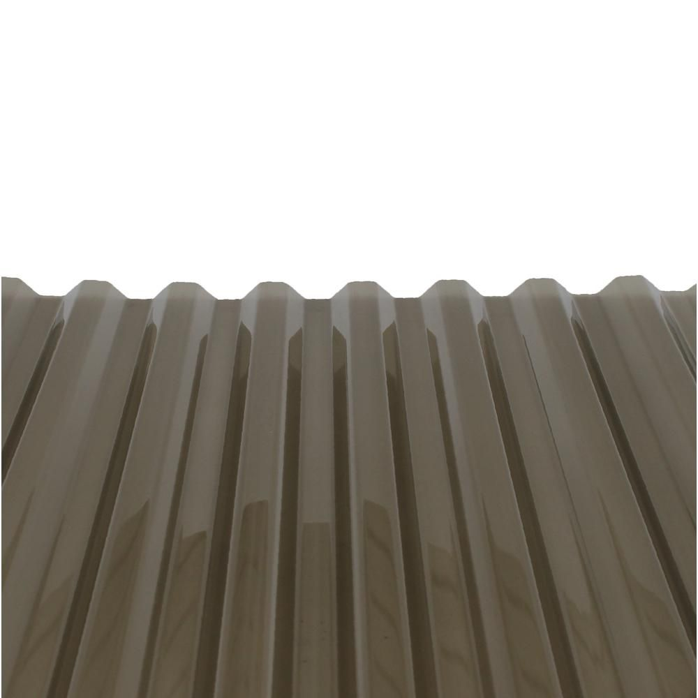 Polycarb 8 Ft Polycarbonate Roof Panel In Smoke 10 Pack 1419t The Home Depot Corrugated Plastic Roofing Roof Panels Plastic Roofing
