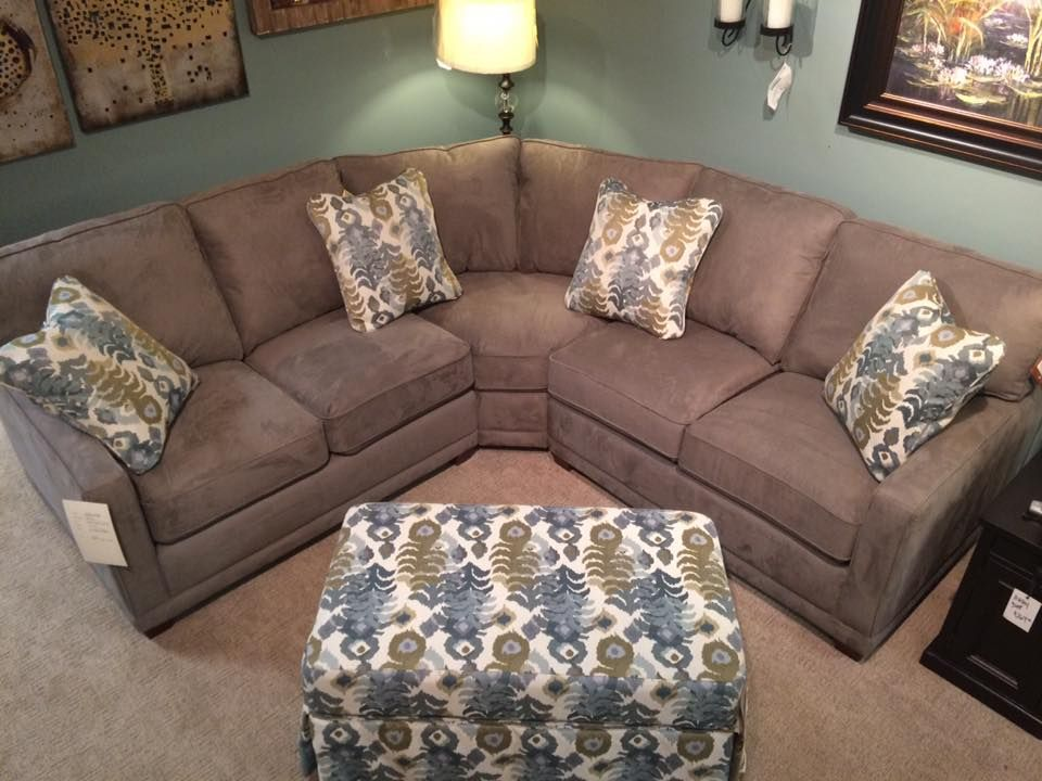 Kennedy Sectional From La Z Boy Features A Small Herringbone Stitch Woven On A Traditional Gray Fabric Furniture Sectional Couch Sectional