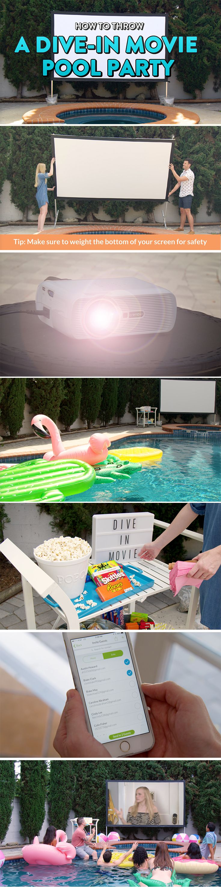 say yes to outdoor movie night in just a few steps enhance your
