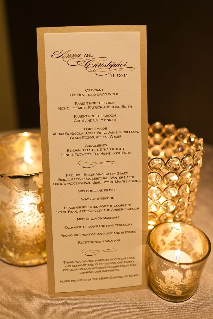 ideas about Elegant Wedding Programs on Pinterest Wedding