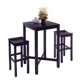 Home Styles Black 3 Piece Dining Set With Bar Table