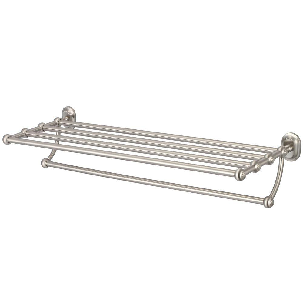 Water Creation 29 In Towel Bar And Bath Train Rack In Brushed Nickel Ba 0001 02 The Home Depot Water Creation Bath Towel Racks Vintage Bathroom Accessories