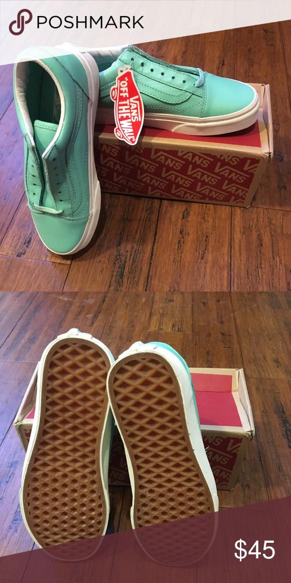 3cfcbd1654 Vans Old Skool Leather Pastel Pack Ice Green Brand New! Vans Old Skool  Leather Pastel Pack Ice Green Women s 5 Vans Shoes Sneakers