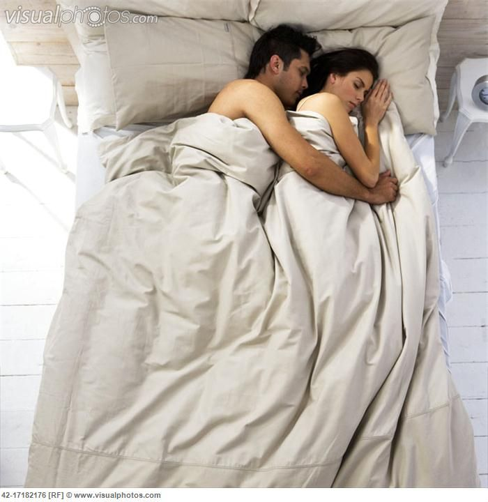 Spooning Couple Asleep In Bed Cute Couples Cuddling Romantic