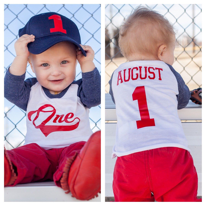 Baseball birthday shirt for a 1st birthday