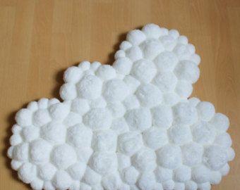 Pom Pom Rug Heart Shaped Rug Baby Room Rug By PomPomMyWorld