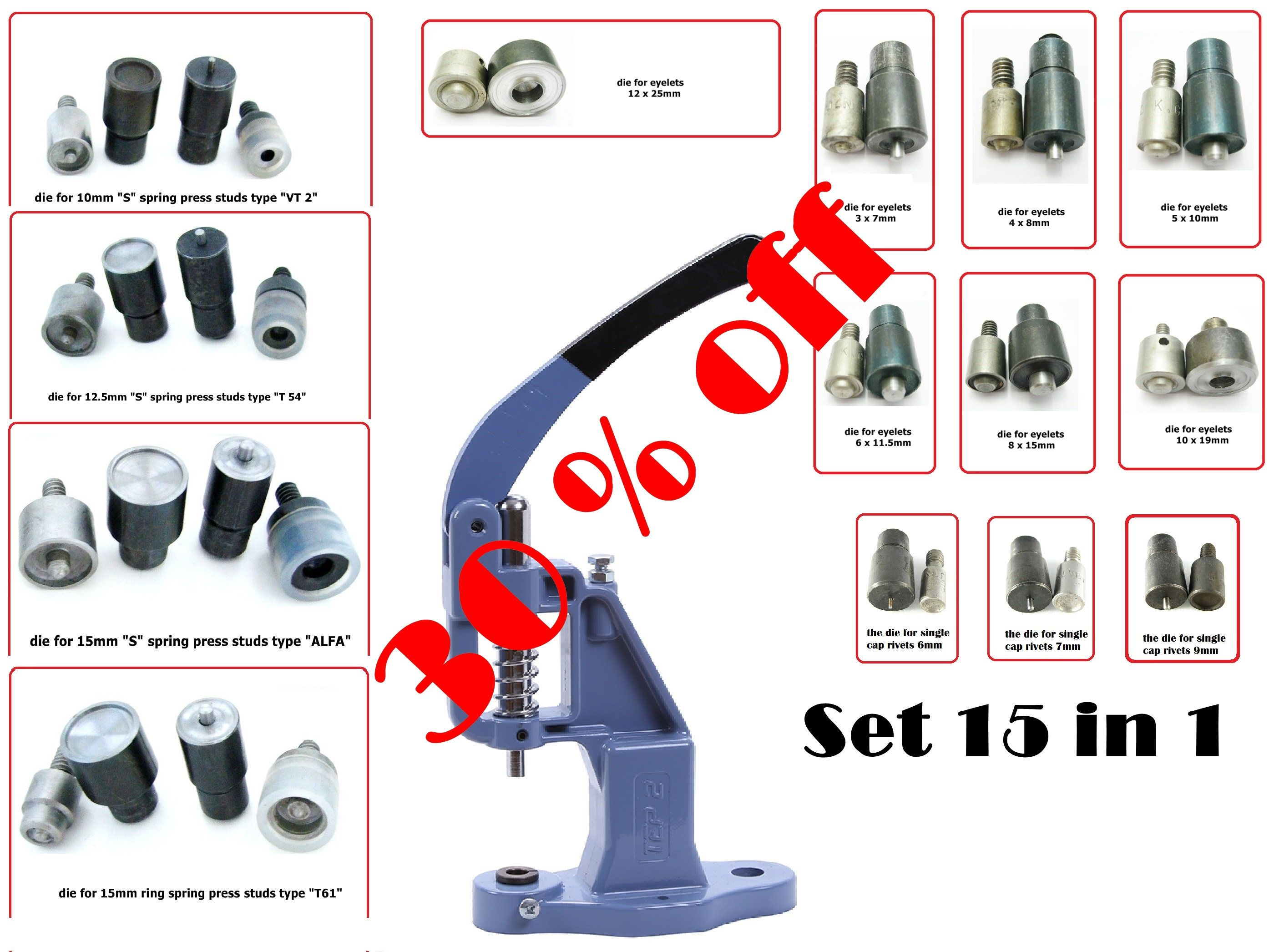 Black Friday Event 30% OFF Set of Hand Press Machine and 14 dies for