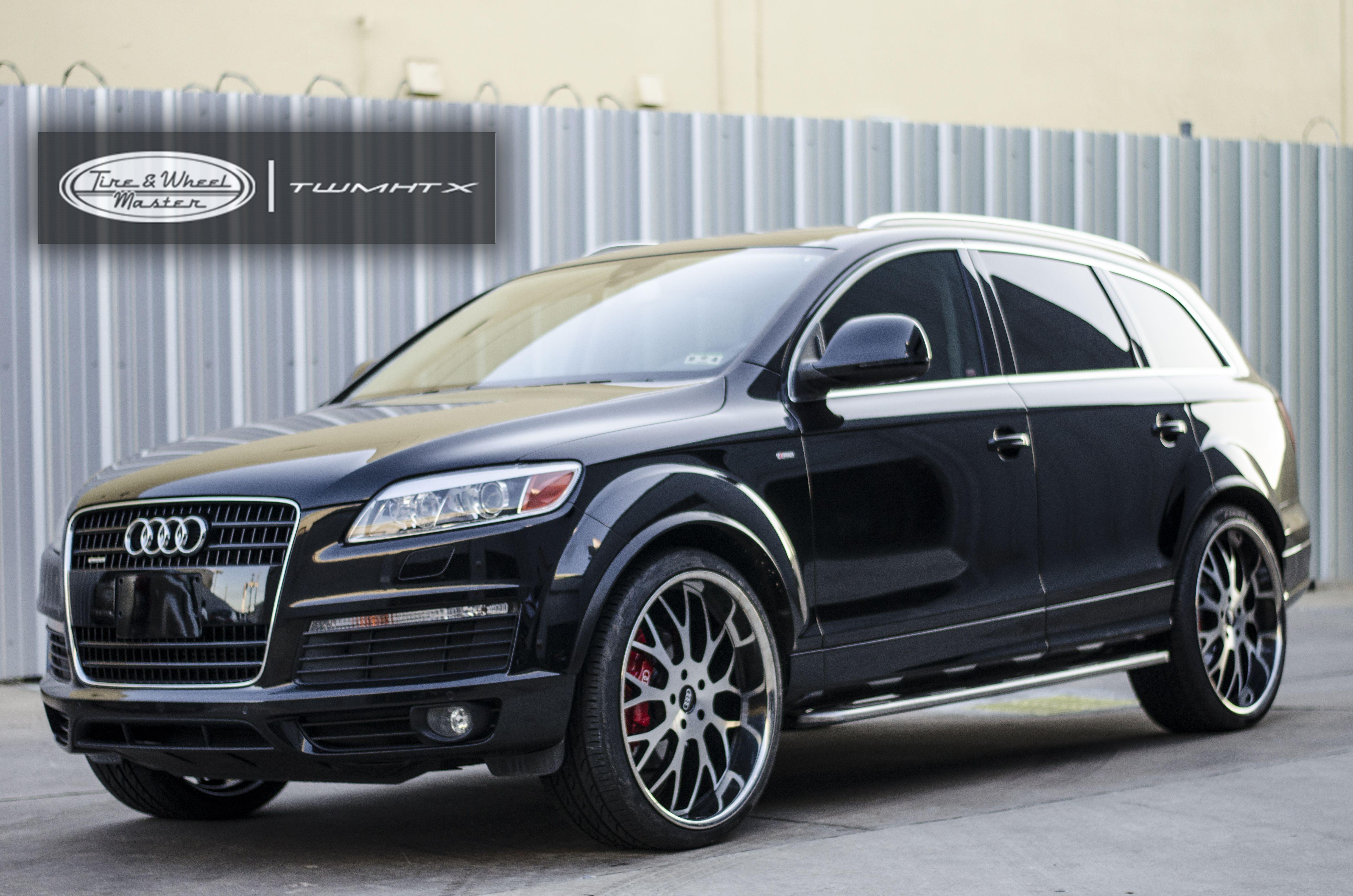 Black Audi Q7 With Custom Wheels Car Wheels Rims Car Wheels Custom Wheels