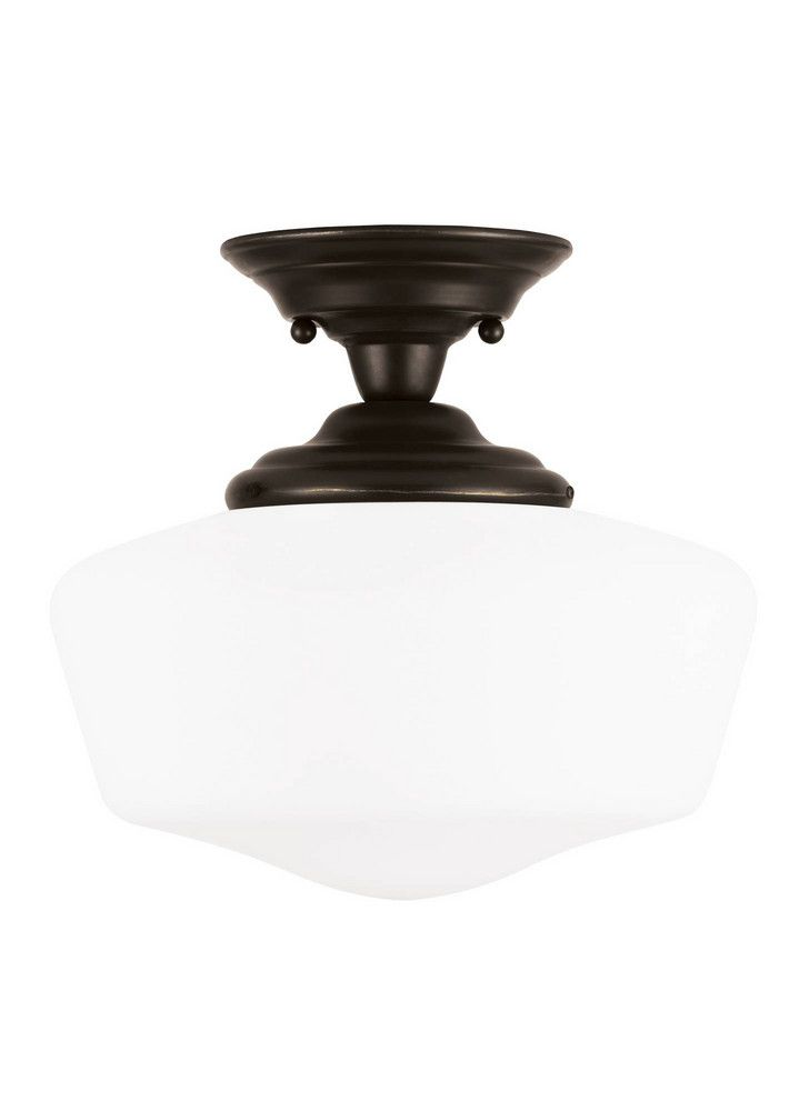 Large One Light Semi Flush Mount