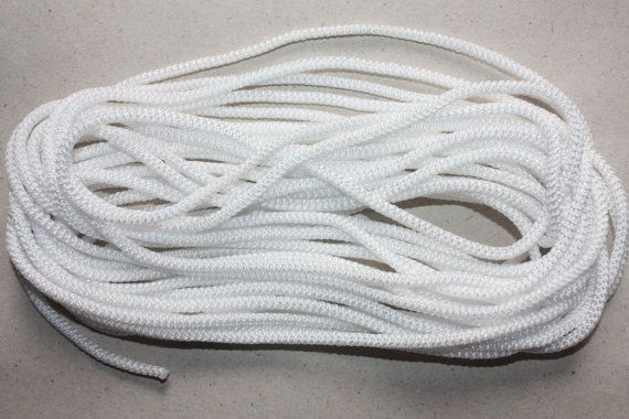 3 Mm Braided Cord Nylon Elegant Rope White By Gbsupplies On Etsy Sailor Knot Bracelet Leather Cord Cord
