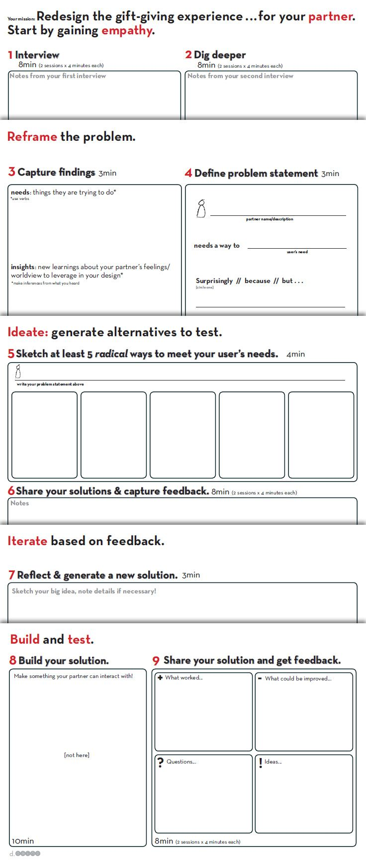 worksheet How To Design A Worksheet worksheet provided by d school stanford httpdschool social innovation map and resources