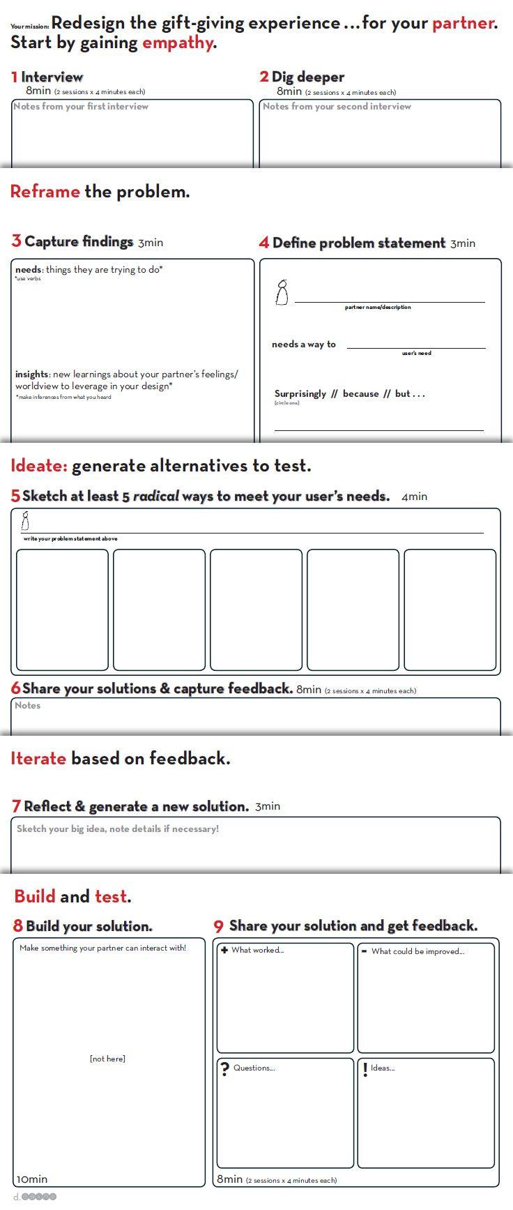 Worksheet Provided By D School Stanford Http Dschool Stanford Edu Dgift Design Thinking Process Design Thinking Tools Design Thinking,Designer Sweatpants Womens