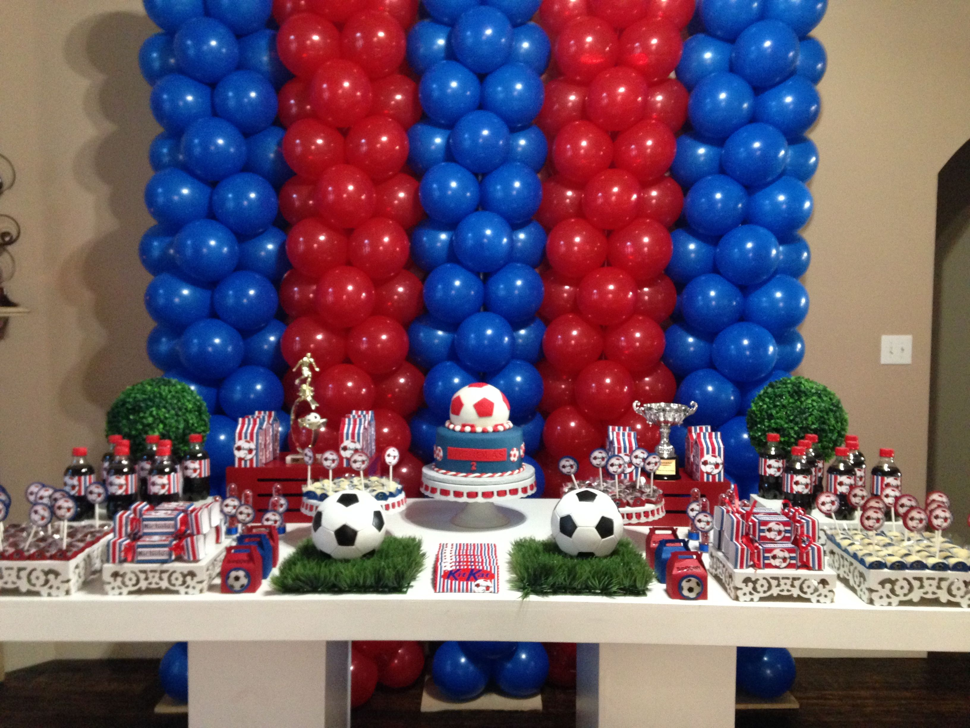 Soccer Party Blue Red Soccer Party Birthday Party Themes Boy Party