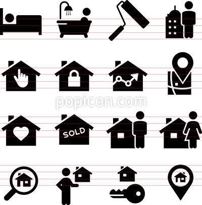 Realtor Icons Real Estate Icons Icon Black Series