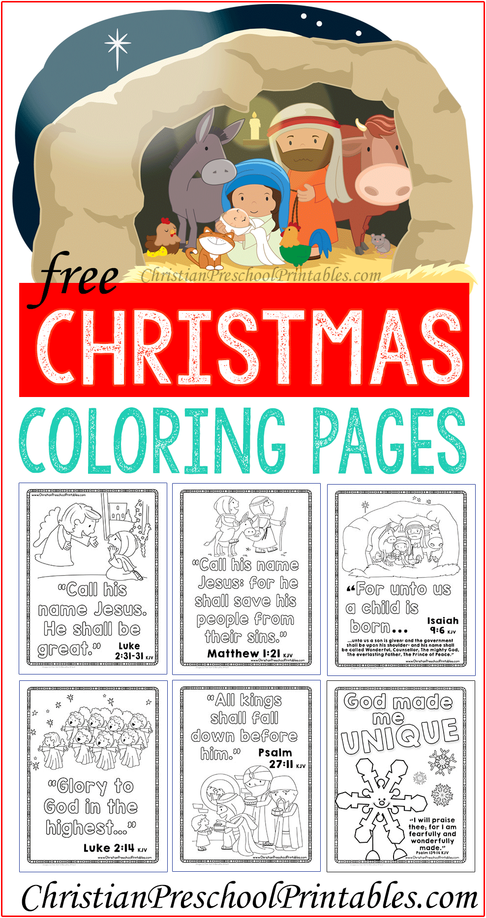 Christmas Bible Coloring Pages | Pinterest | Navidad