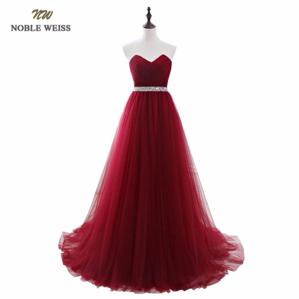 EDLE WEISS Dark Red Abendkleider Net Falten Perlen Custom Made Lace ...