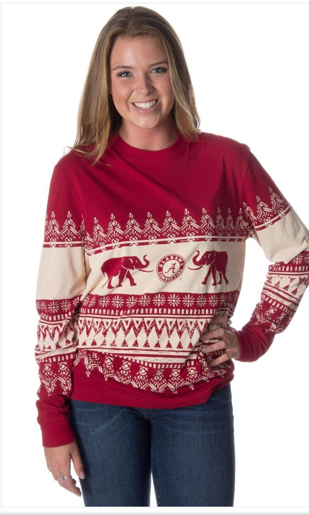 Alabama Collegiate Christmas Sweater Tee | Products | Pinterest ...