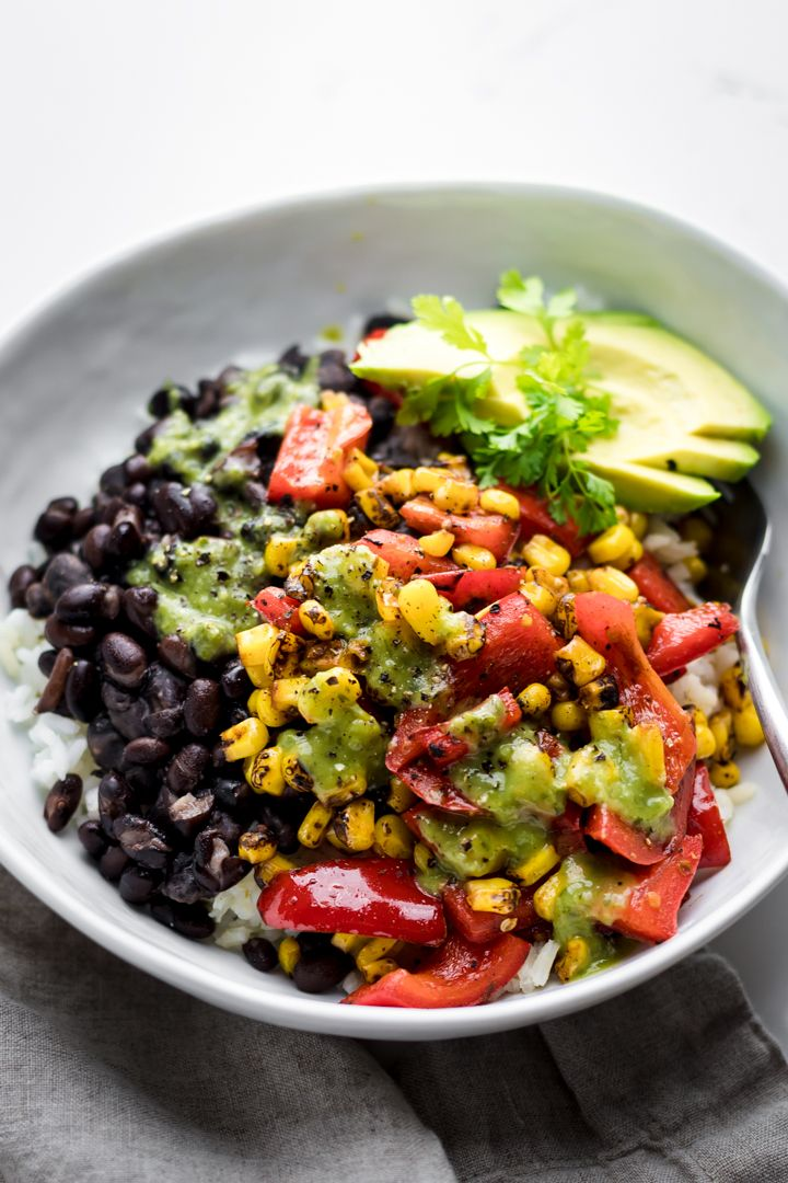 15-Minute Vegan Burrito Bowl – A Simple Palate