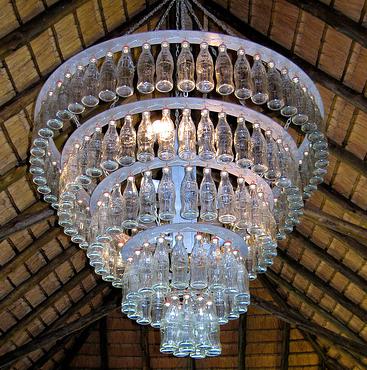 Coke bottle chandelier cool ides pinterest bottle chandelier coke bottle chandelier aloadofball Images