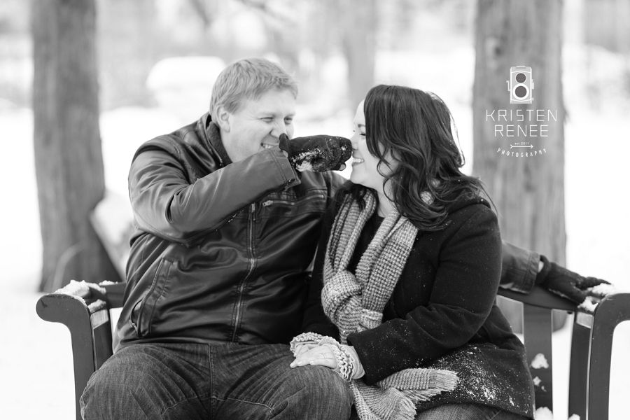 Winter Engagement: Victoria + Scott in upstate #NewYork // #snow #blackandwhite