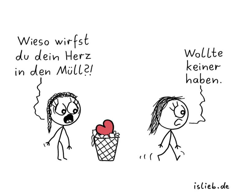 Herztrash | Müll-Cartoon | is lieb?