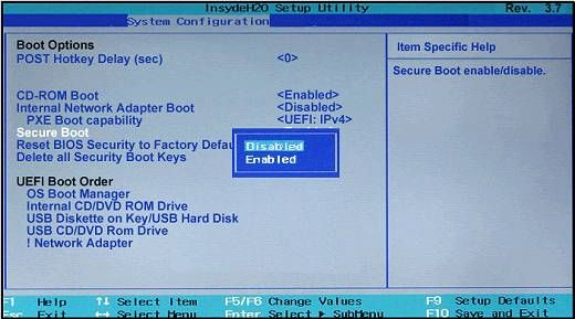 secure-boot-disable | Bookmarks | Windows, Windows 10