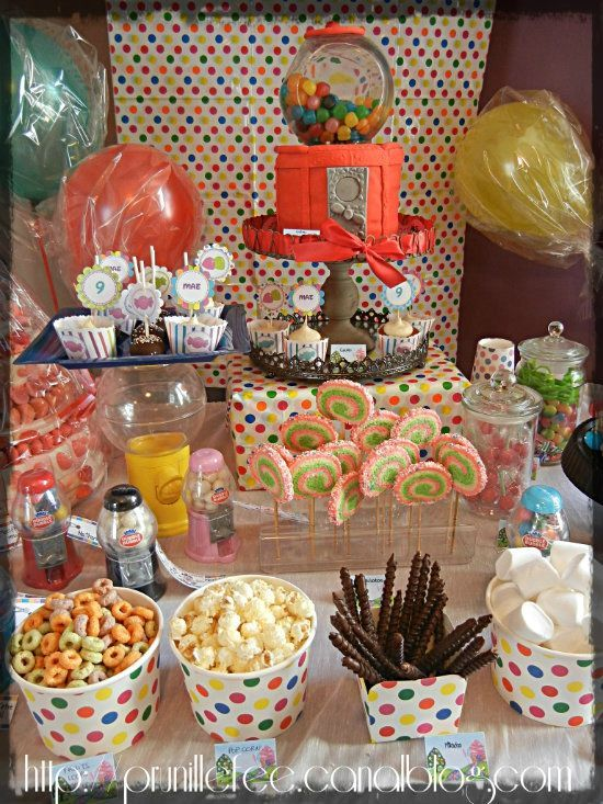 Candyland birthday I'm thinking I could add wreck it ralph to this and it would be awesome!
