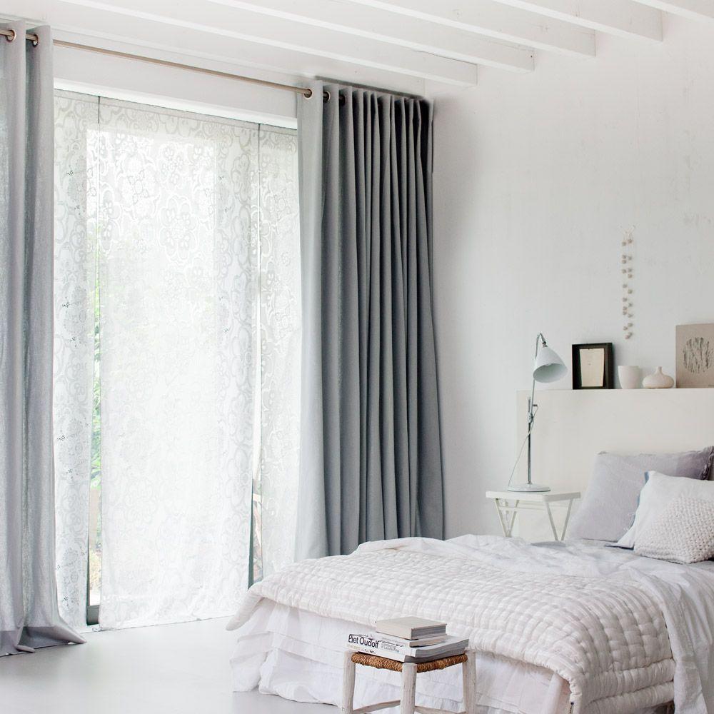 gordijnen curtains  Gordijn inspiratie  Slaapkamer