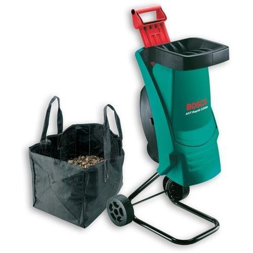 Bosch Axt Rapid 2200 Garden Shredder With Waste Bag Bosch Garden Shredder
