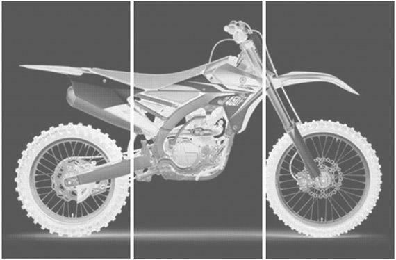 Yamaha Yz 450 F Dirt Bike Motorcycle Screen By Cedarworkshop