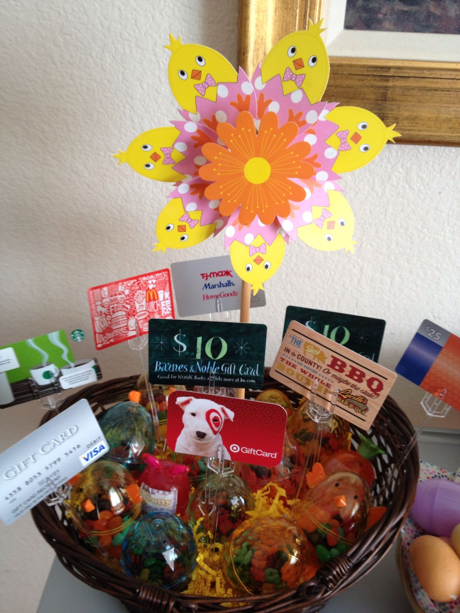 I made this basket for an easter sunday raffle gift cards held up i made this basket for an easter sunday raffle gift cards held up with card negle Image collections