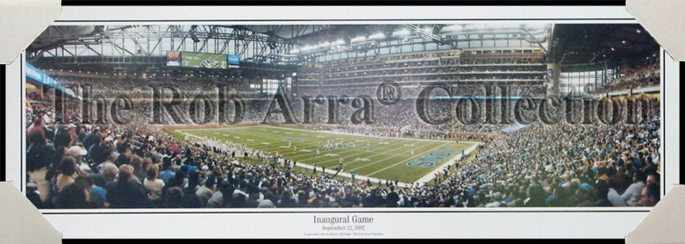 Detroit Lions Ford Field Inaugural Game Nfl Football Homedecor Officedecor Gameroom Interiordesign Art Gifts Michigan Nfl Detroit Lions Detroit
