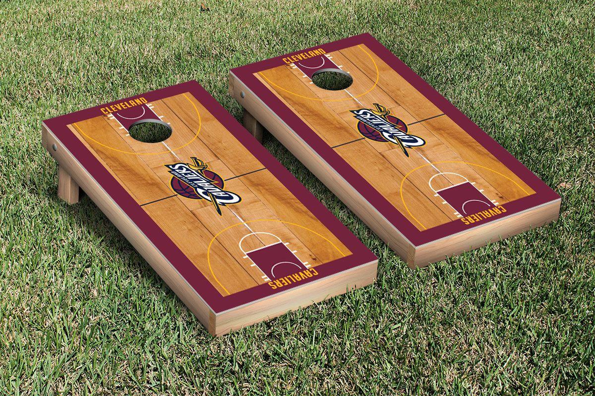 Cleveland cavaliers basketball court cornhole boards