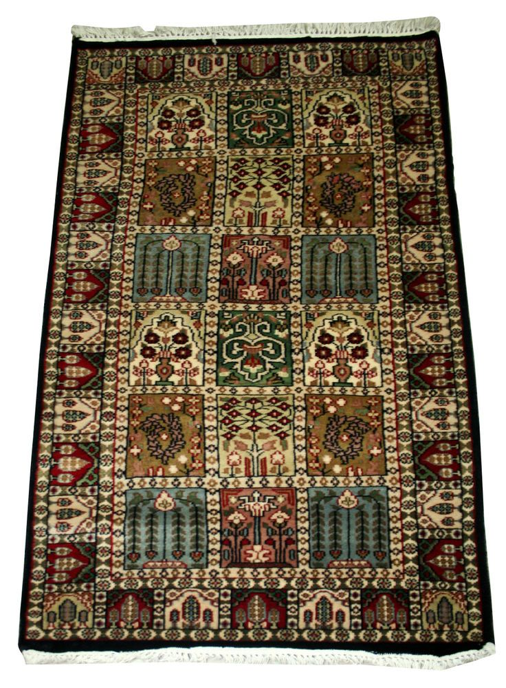 Vintage Persian Cashmere Wool Carpet 3 X 5 Handmade Rugs Oriental,RUGS EDH #Indian