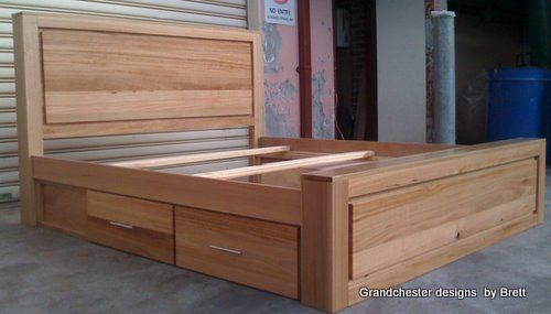 Storage bed, Custom, Hardwood Furniture. Grandchester Designs | Beds ...