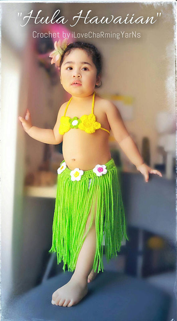 Crochet hawaiian hula set baby hula outfithula girl outfit girls hawaiian costumehula costumehula baby photo props baby summer outfit | Pinterest ...  sc 1 st  Pinterest & Crochet hawaiian hula set baby hula outfithula girl outfit girls ...