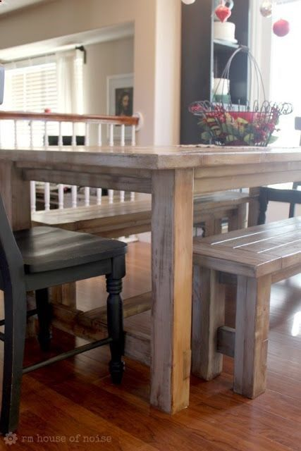 Want Diy Kitchen Table Table Benches And Chairs Made By Hand Just Under 200 Diy Kitchen Table Home Home Decor
