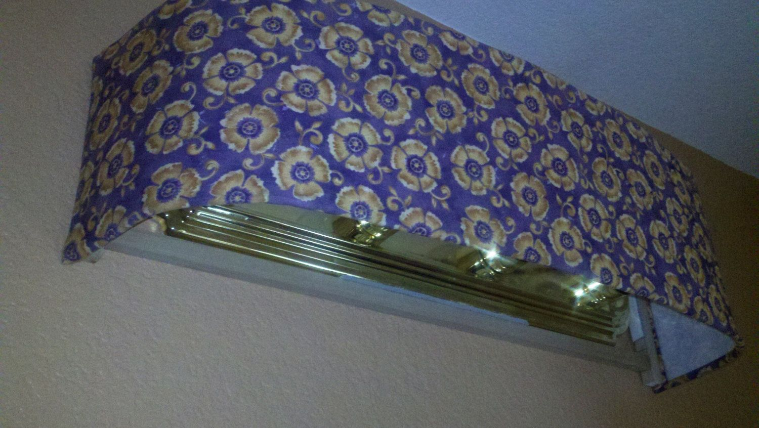 Goldenrod floral on purple lamp shade by vanityshadesofvegas vanity shades are bathroom light covers to hide that ugly vanity light aloadofball