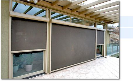 Retractable Sun Screens Solar Shades And Patio Screens