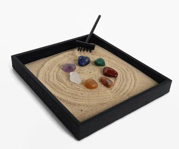 Chakra Stones Mini Zen Garden Healing Crystals And Stones Set Chakra Balancing Zen Box Chakra Decor Meditation Table Chakra Crystals In 2020 Zen Garden Mini Zen Garden Zen Decor
