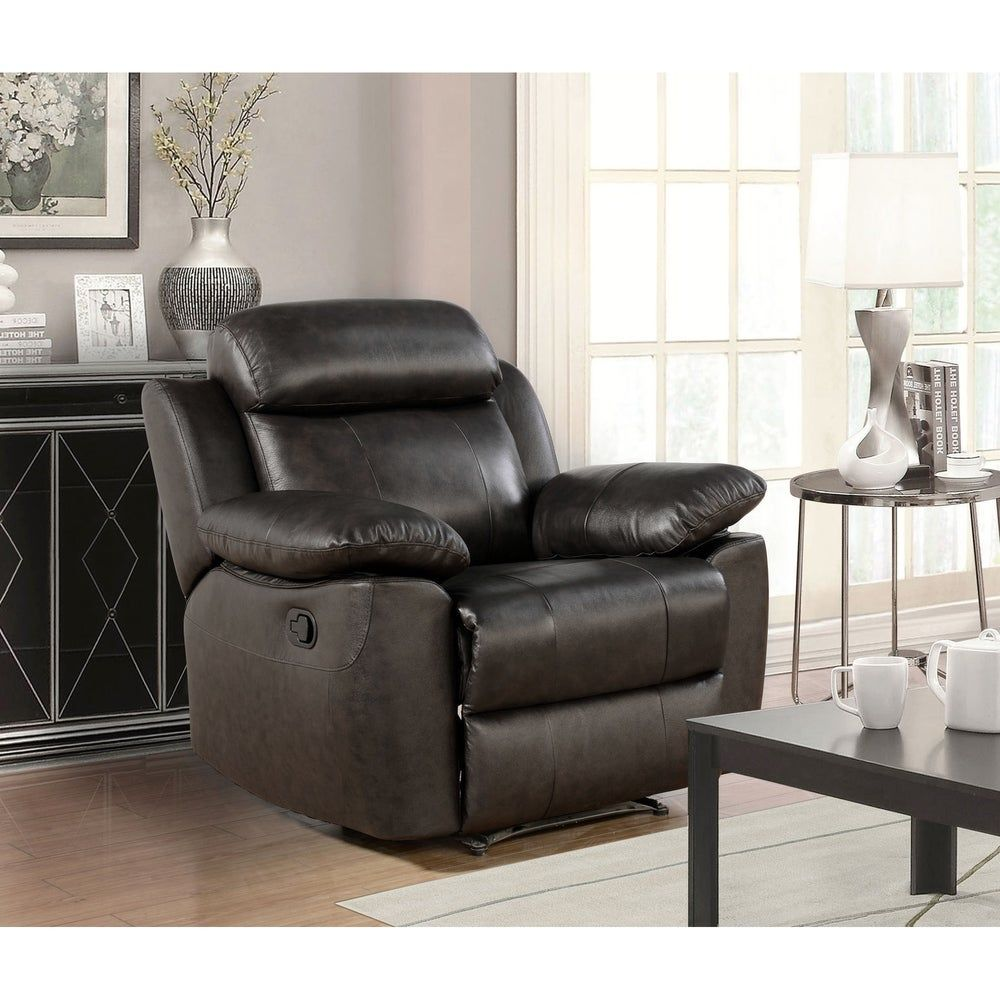 Abbyson Braylen Brown Top Grain Leather Recliner In 2020 Leather Reclining Loveseat Abbyson Living Leather Recliner