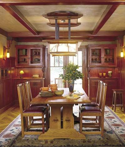 LOVE The Arts And Crafts Style That Lets This Formal Dining Room Feel Like An Informal Gathering Place