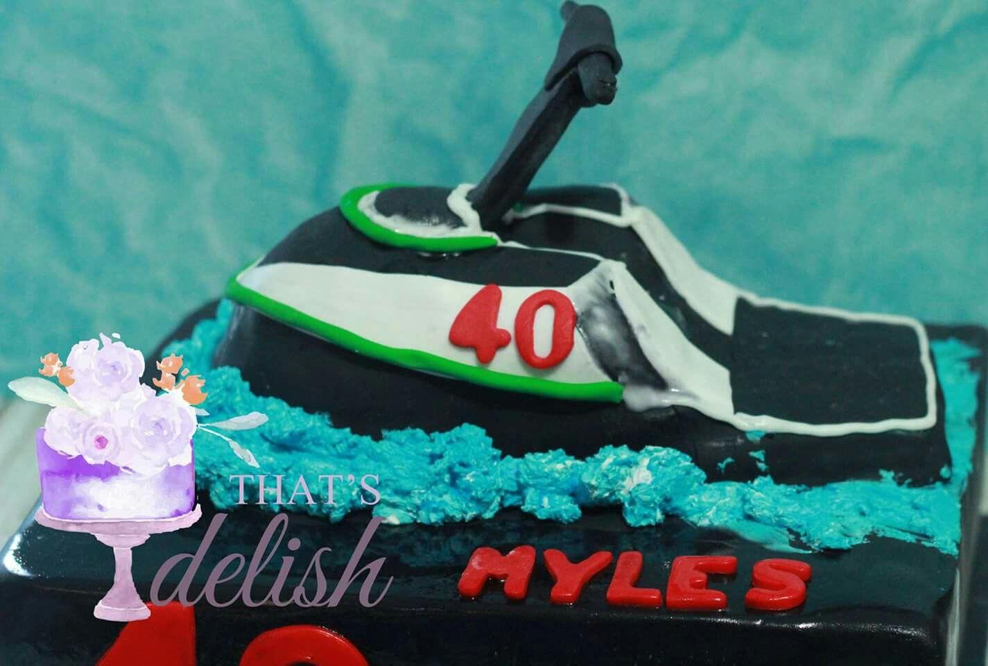 Men S Birthday Ideas Jet Ski Theme Cake 40th Themed Cakes Cake Man Birthday