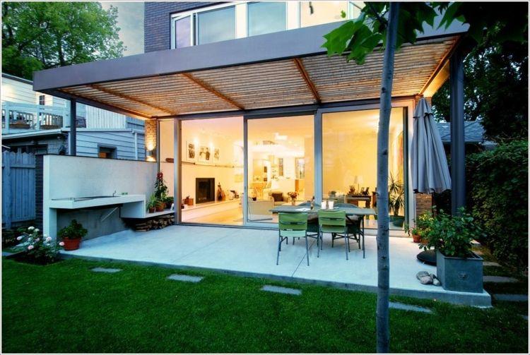 Moderne Metall Pergola Mit Holz - Google-suche | Garten ... Holz Pergola Garten Moderne Beispiele