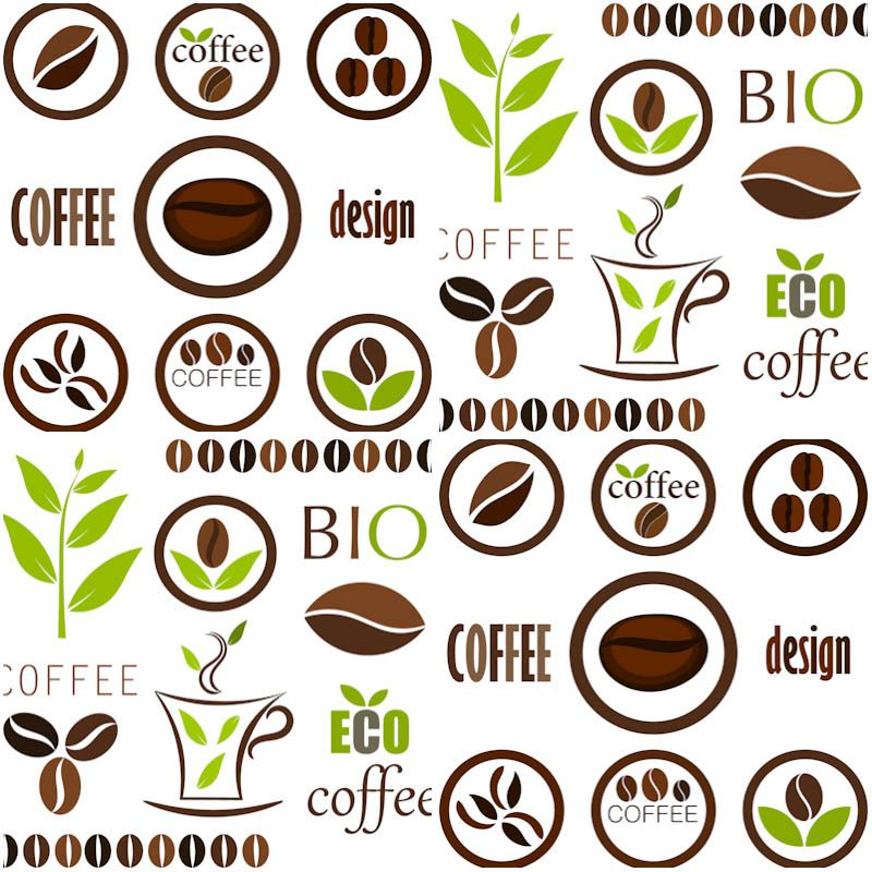 Realistic Vector Set Elements Coffee Beans Stock Vector