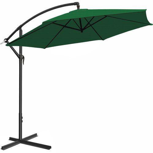 Garden Umbrella Parasol Stand Base Large Patio Sun Shade Banana Cantilever  Green