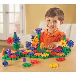 Gears Beginner's 96 pc Building Set - Educational Toys Planet. Great gift for 3 years old child. The 96 pcs building set from the Gears! Gears! Gears! collection is an exciting construction activity set perfect for introducing your children to working gears. Develops Skills - building skills, creativity, manipulative skills, principles of motion. #toys #learning #educational #gifts #child https://www.educationaltoysplanet.com/gears-gears-gears-beginners-building-set.html