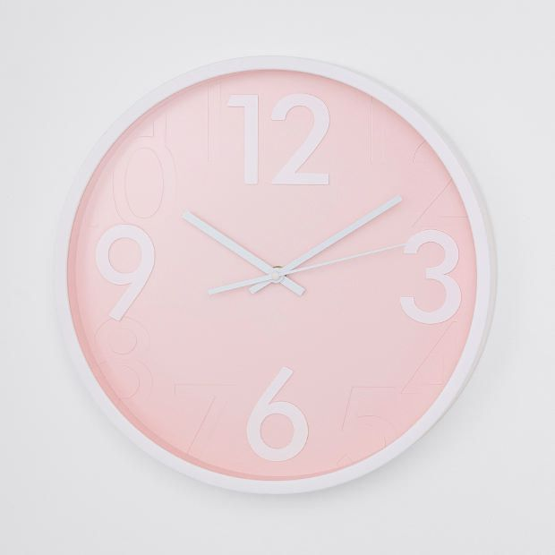 The Perfect Pink Wall Clock Perfect Clock For A Little Girls Room Decor Or Just For Those Who Love Pink Affiliate Link Wall Clock Wall Clock Target Clock